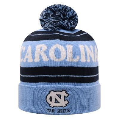 NCAA North Carolina Tar Heels Men's Knit Cuffed Beanie with Pom