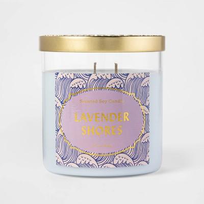 15.1oz Lidded Jar Lavender Shores Candle - Opalhouse™