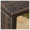 Forrest C-shaped Wicker Accent Table - Brown - Christopher Knight Home - image 3 of 4