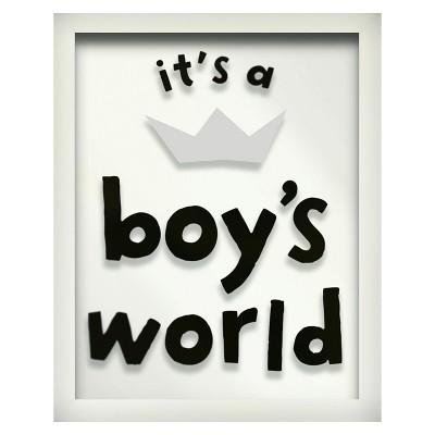 It's a Boy's World Screen Printed Glass Art - Pillowfort™