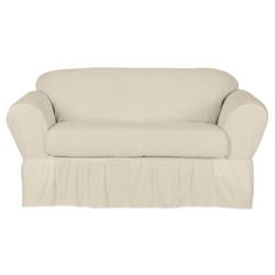Cool White Wrap Loveseat Slipcover 2 Piece Target Gamerscity Chair Design For Home Gamerscityorg