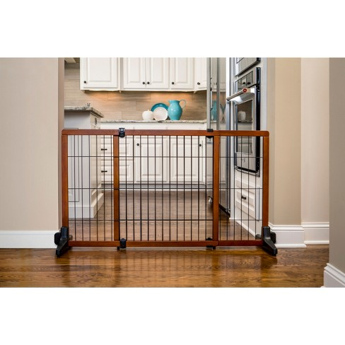 Carlson Extra Tall Wood Free Standing Dog Cat Gate 28h Brown