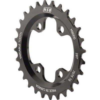 NSB Variable Tooth Chainring Chainring For Shimano XT8000- Tooth Count: 28 Chainring BCD: 64