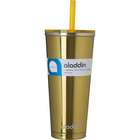 9b38a6edad6 Aladdin Vacuum Insulated Stainless Steel Tumbler With Straw 24oz - Yellow :  Target