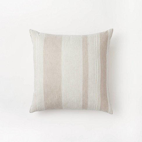 Woven Asymmetric Striped Throw Pillow - Threshold™ designed with Studio McGee - image 1 of 4