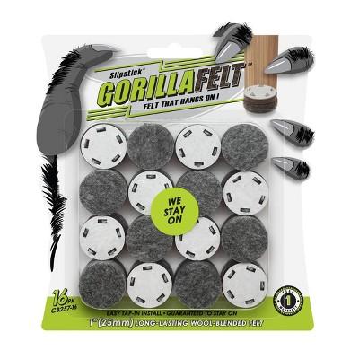 """GorillaFelt (Set of 16) 1"""" Tap-In Wool Blended Felt"""