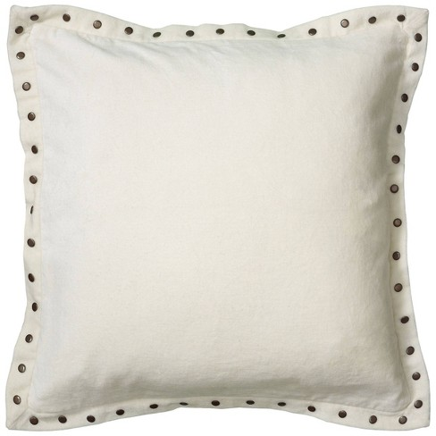 """18""""x18"""" Solid Square Throw Pillow Cover - Rizzy Home - image 1 of 3"""