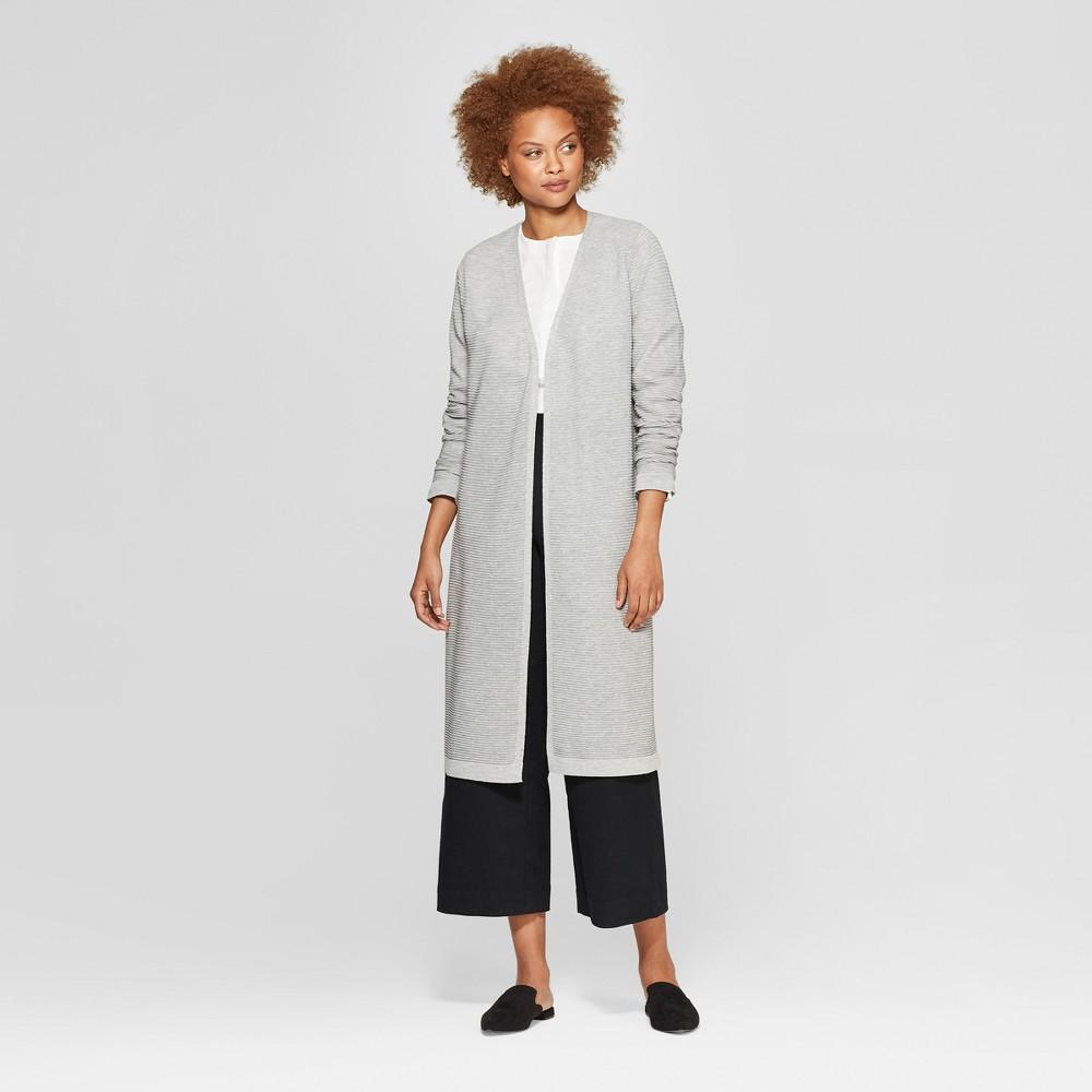Women's Long Sleeve Front Open Cardigan - Prologue Gray XL