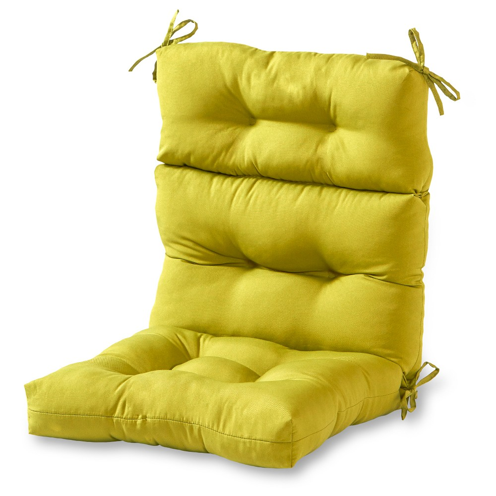 Solid Outdoor High Back Chair Cushion Kensington Garden