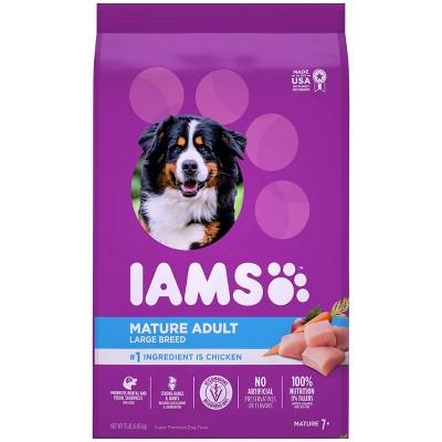 Iams Proactive Health Chicken Large Breed Mature Senior Premium Dry Dog Food - 15lbs