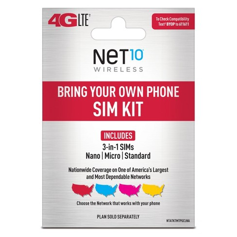 Net10 Bring Your Own Phone SIM Activation Kit - image 1 of 4