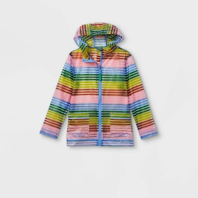 Girls' Striped Rain Jacket - Cat & Jack™