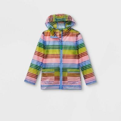 Girls' Striped Rain Jacket - Cat & Jack™