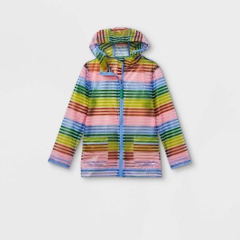 Girls' Striped Rain Jacket - Cat & Jack™ - image 1 of 2