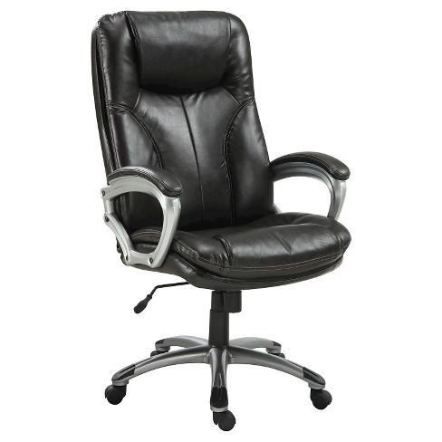 Serta Executive Tall Office Chair Puresoft Faux Leather Roasted Chestnut Target