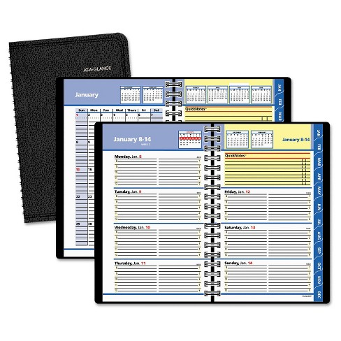 2018 AT-A-GLANCE QuickNotes Weekly/Monthly Appointment Book 4 7/8 x 8 Black - image 1 of 4