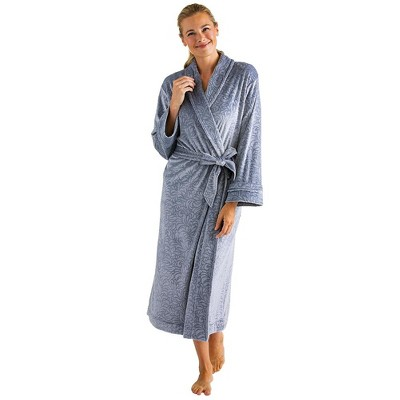 Softies Women's Floral Embossed Serenity Robe