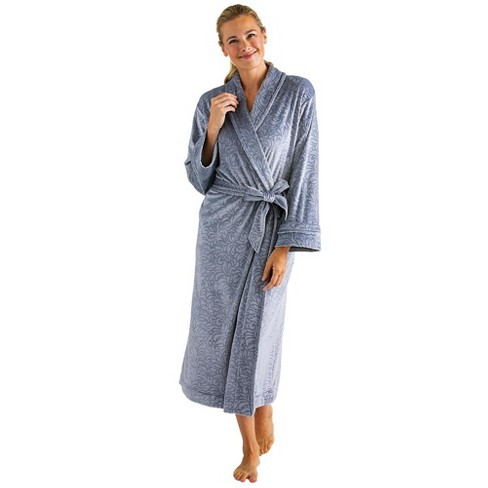 Softies Women's Floral Embossed Serenity Robe - image 1 of 4