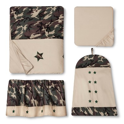 Sweet Jojo Designs 11pc Camo Crib Set - Green
