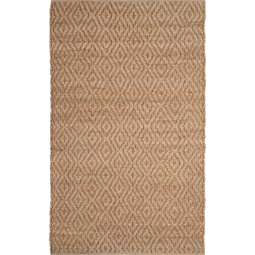 4'X6' Geometric Woven Area Rug Natural/Red - Safavieh, White