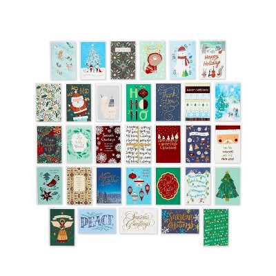 32ct Deluxe Christmas Greeting Card Bundle