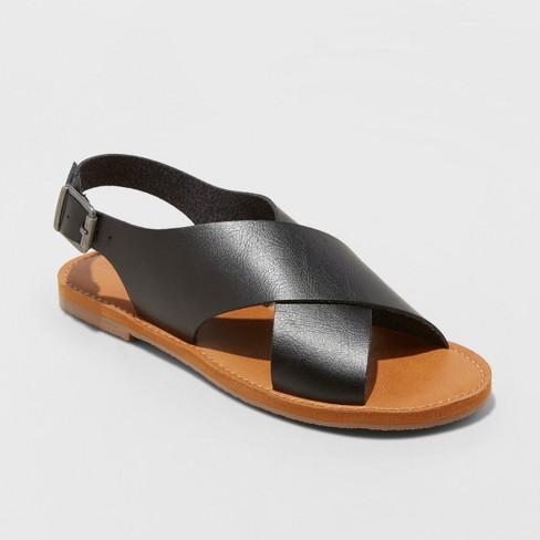 f1047a3844fe Women s Sarina Crossband Slide Sandals - Universal Thread™ Black 6.5    Target