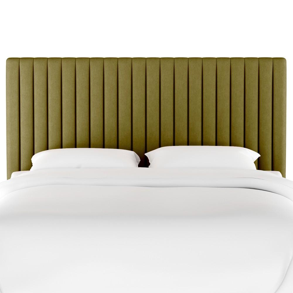 King Channel Headboard Green Velvet - Opalhouse