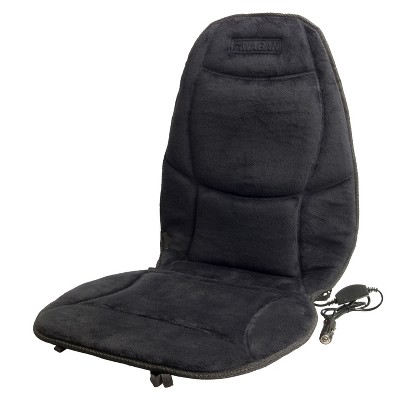 Wagan Soft Velour Heated Seat Cushion Black
