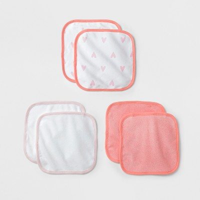 Baby Lightweight 6pk Washcloth Set Cloud Island™ - Pink/Coral