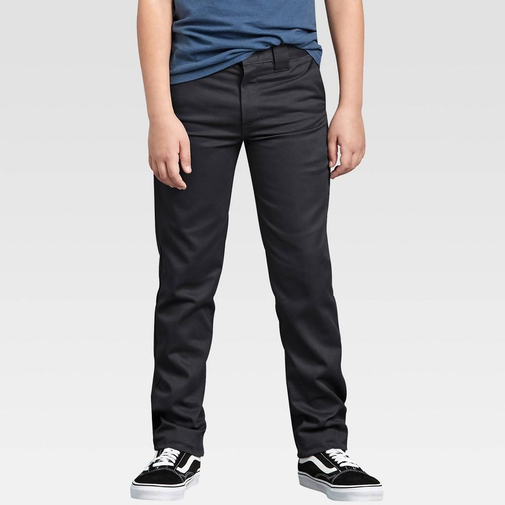 Dickies Boys 39 Flex Skinny Fit Straight Leg Pants Black 14