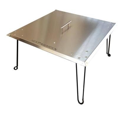 Heatt Warden Fire Pit Heat Deflector Stainless Steel Az Patio Heaters Target