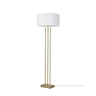 "62"" Soho Floor Lamp with Linen Shade White - Globe Electric"