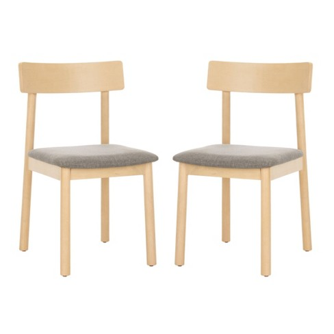 Set of 2 Lizette Retro Dining Chair White Oak/Gray - Safavieh - image 1 of 4