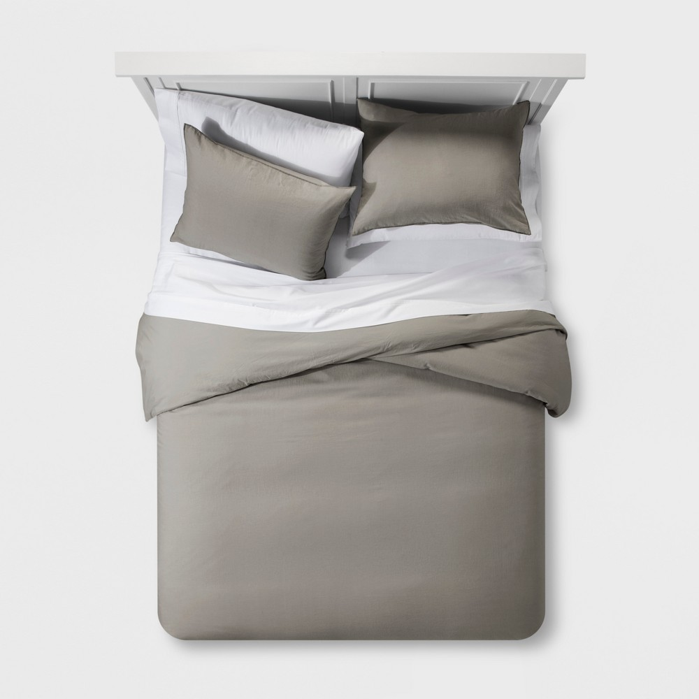 Gray Washed Linen Blend Duvet Cover Set (King) - Project 62 + Nate Berkus was $89.99 now $44.99 (50.0% off)
