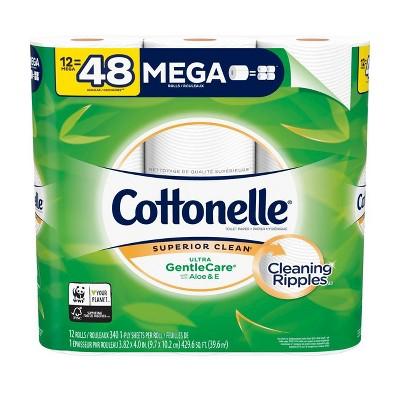 Cottonelle Gentle Care Toilet Paper - 12 Mega Rolls/429.6 sq ft