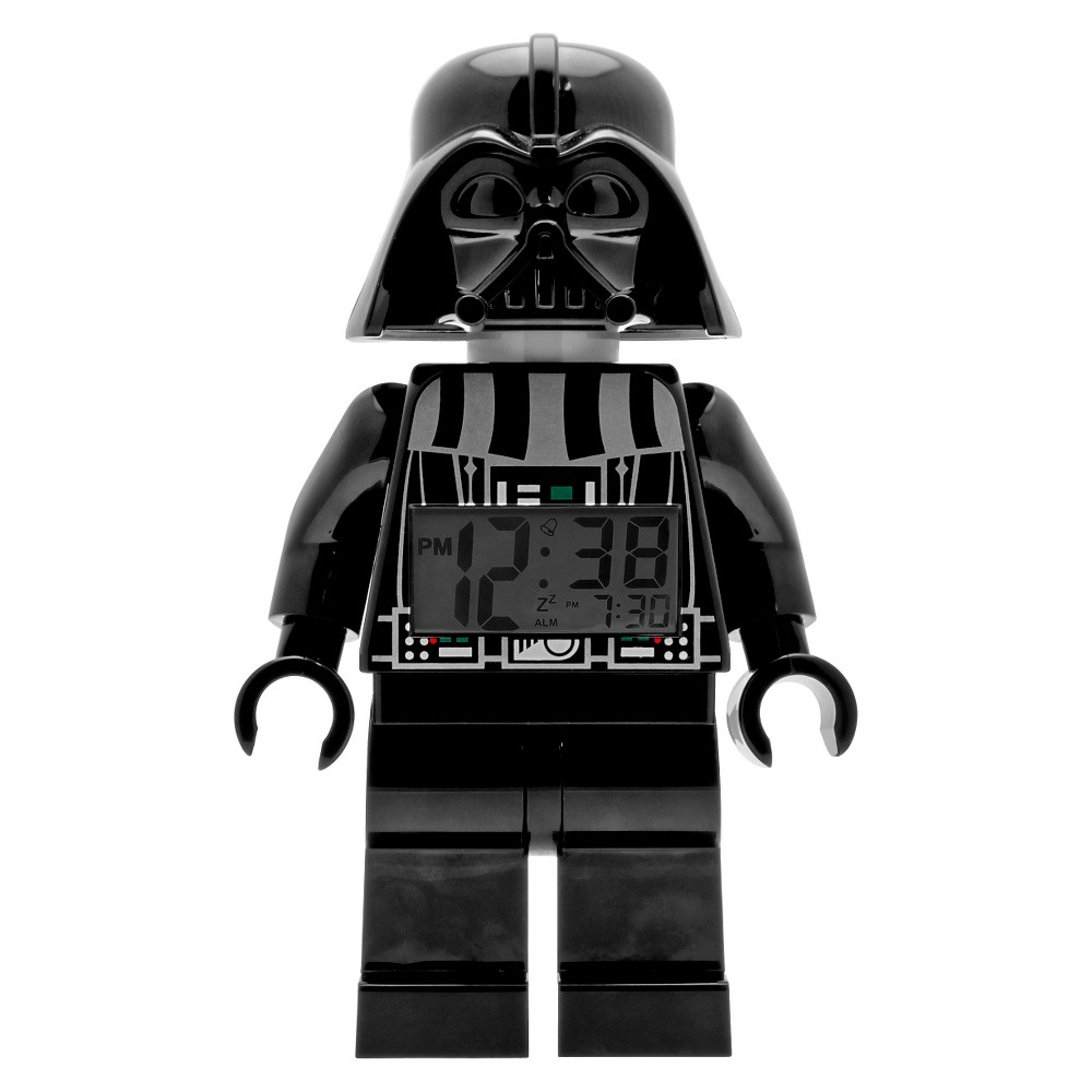 Image of Lego Star Wars Darth Vader Kids Moveable Minifigure Alarm Clock - Black
