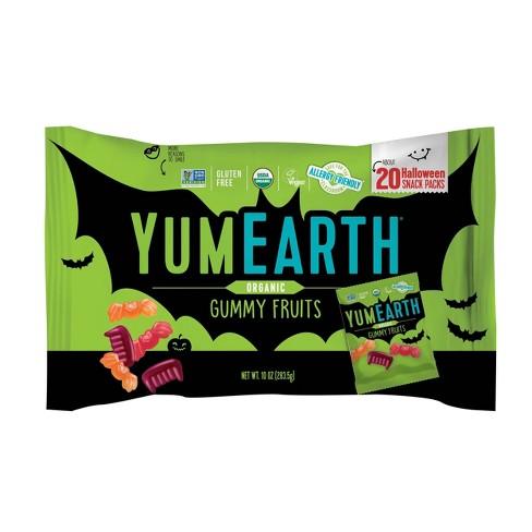 Yum Earth Halloween Organic Gummy Fruits - 10oz/20ct - image 1 of 4