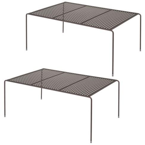 mDesign Kitchen Pantry, Countertop Storage Shelf, Pack of 2