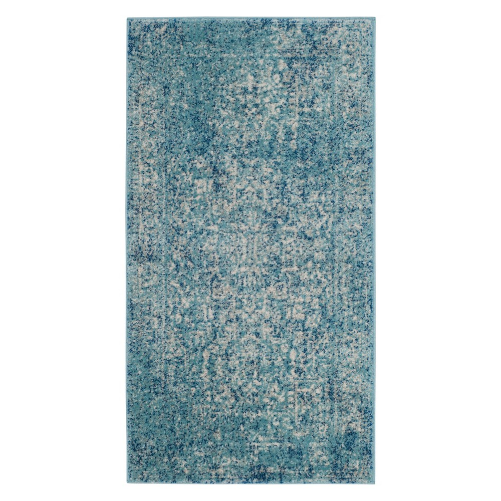 Medallion Accent Rug Blue/Ivory