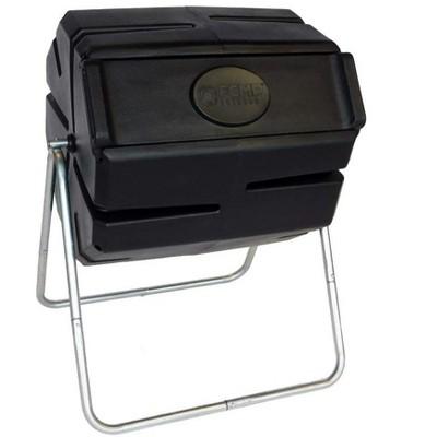 FCMP Outdoor Portable 37 Gallon 1 Piece Tumbling Composter Bin for Soil