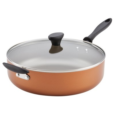 Farberware Reliance 6qt Covered Saute Pan with Helper Handle Copper