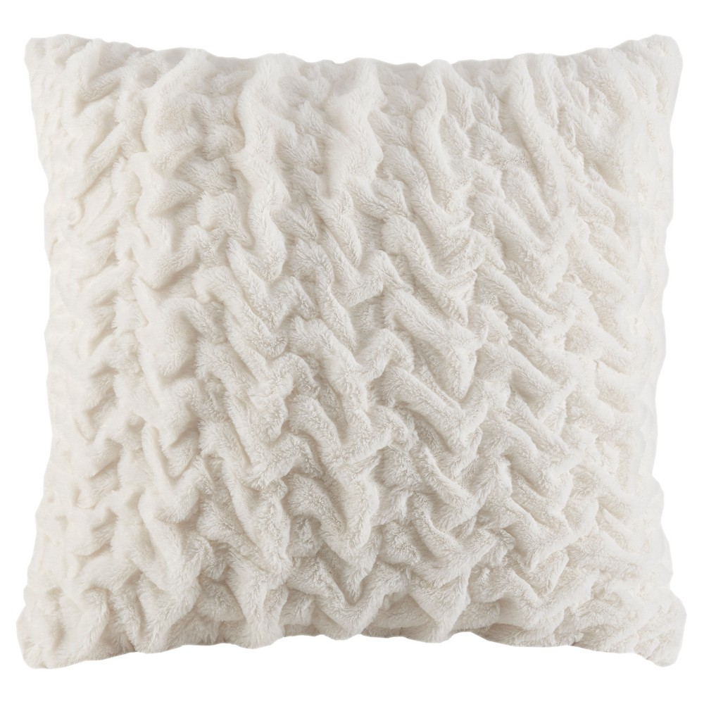 The Ruched Fur Euro Pillow features the softness of faux fur and reverses to an ultra soft solid faux mink. The simple hand ruched pattern is the perfect sophisticated update.