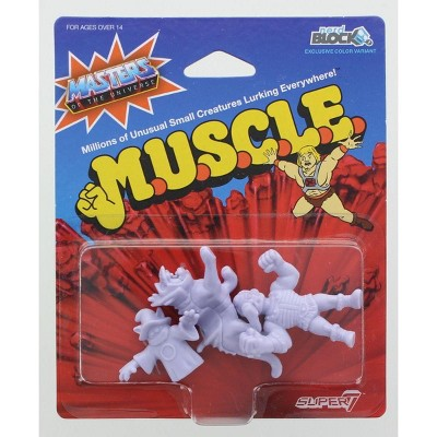 Nerd Block Masters of the Universe M.U.S.C.L.E. Mini Figure 3-Pack: Orko, Battlecat, Fisto