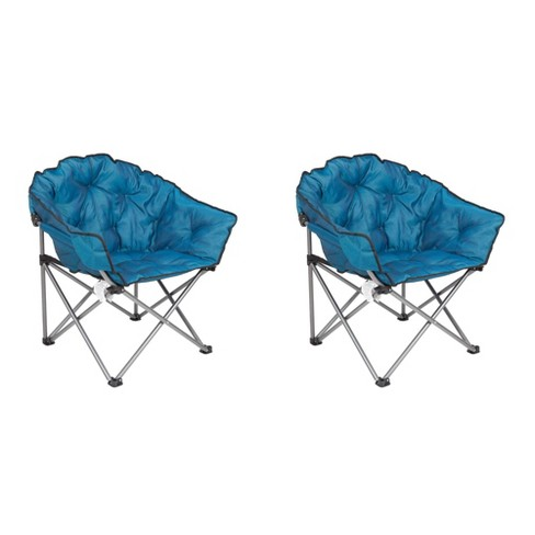 Enjoyable Mac Sports Folding Padded Outdoor Club Chair With Carry Bag Blue Black 2 Pack Uwap Interior Chair Design Uwaporg