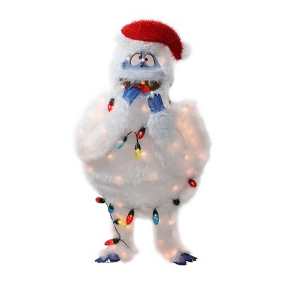 """Northlight 32"""" White and Blue Lighted Bumble Outdoor Christmas Decor"""