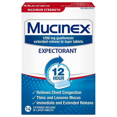 Mucinex Maximum Strength 12-Hour Chest Congestion Expectorant Tablets