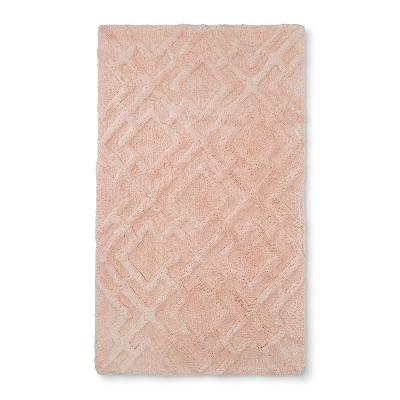 34 x20  Tufted Lattice Spa Bath Rug Bath Rug Peach - Fieldcrest®