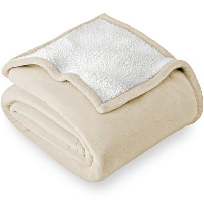 Bare Home Sherpa Fleece Blanket