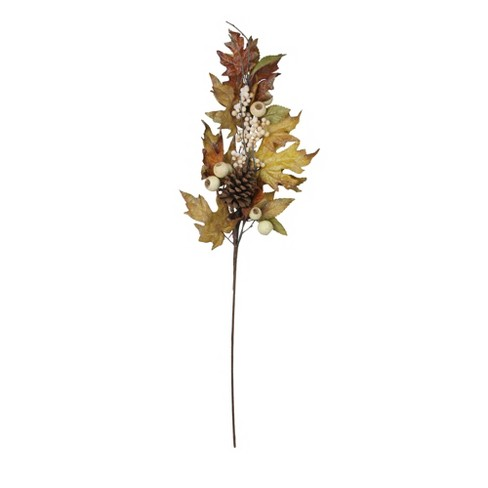 "Raz Imports 30"" Brown Autumn Thanksgiving Leaf and Berry Artificial Fall Spray - image 1 of 1"