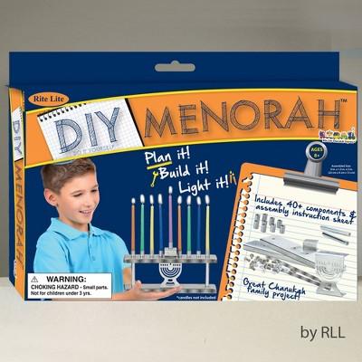 "Rite Lite 9"" Hanukkah Make Your Own Menorah Craft Set - Silver"